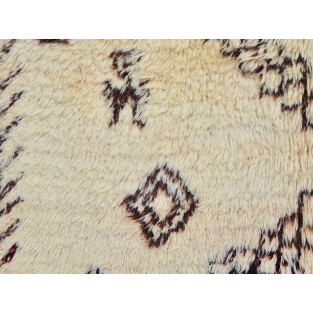 Textile Vintage Moroccan Marmoucha Rug - 6′ × 10′2″ For Sale - Image 7 of 11