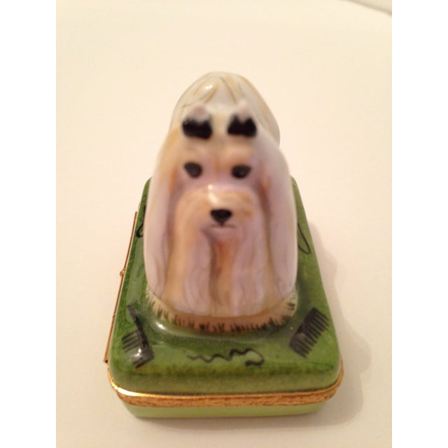 Limoges Box with White Maltese Top - Image 6 of 7