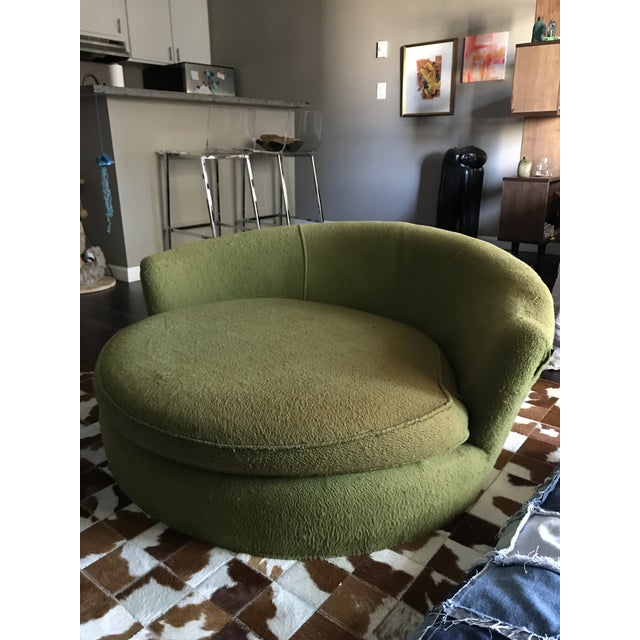Vintage Green Oversized Chair - Image 2 of 6