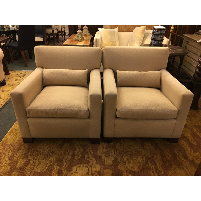 Sutter of Cali Fabric Arm Chairs - A Pair - Image 2 of 6