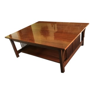 1990s Mission Stickley Cherry Cocktail Table