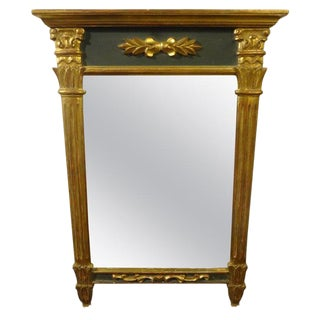 Antique French Louis XVI Style Gilt Wood Mirror For Sale