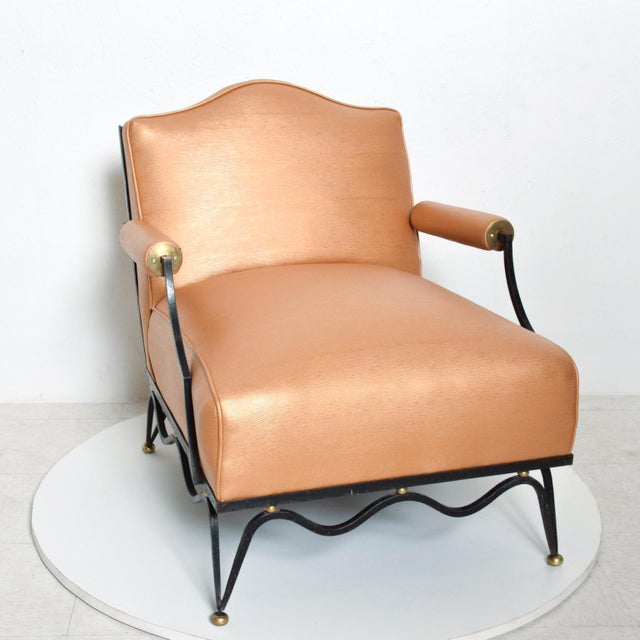 French Neoclassical Revival Mexican Modernist Arm Chairs Attr Arturo Pani - a Pair For Sale - Image 11 of 12