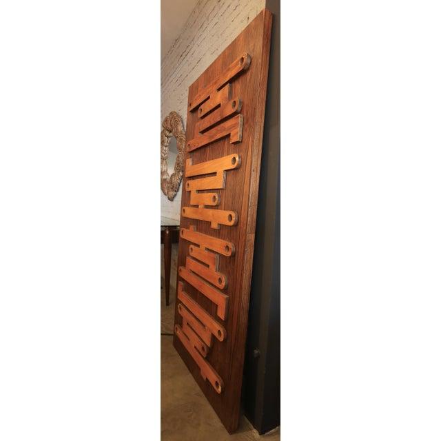 1960s Brazilian Jacaranda Decorative Panel or Door For Sale In Los Angeles - Image 6 of 8