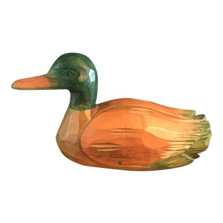 Hand Caved Wooden Mallard Duck