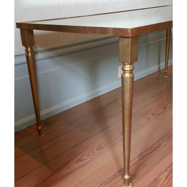 1960s 1960's Pair of Jansen Brass Coffee Tables For Sale - Image 5 of 10