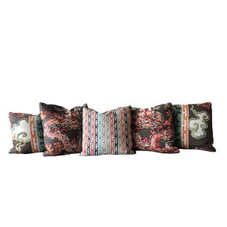 Jim Thompson Down Feather Pillows - Set of 5 For Sale
