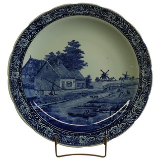 Plate, Boch Royal Sphinx Signed Sonneville Blue For Sale