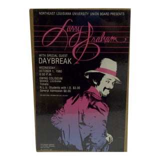 """Vintage 1980 """"Larry Graham"""" Concert Poster For Sale"""
