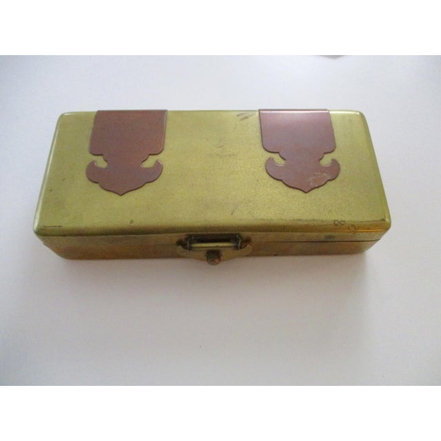 Neiman Marcus Hollywood Regency Brass & Copper Trinket Box - Image 9 of 10