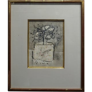 Norman Zammitt -Untitled Abstract - MIX Media Painting -C1961 For Sale