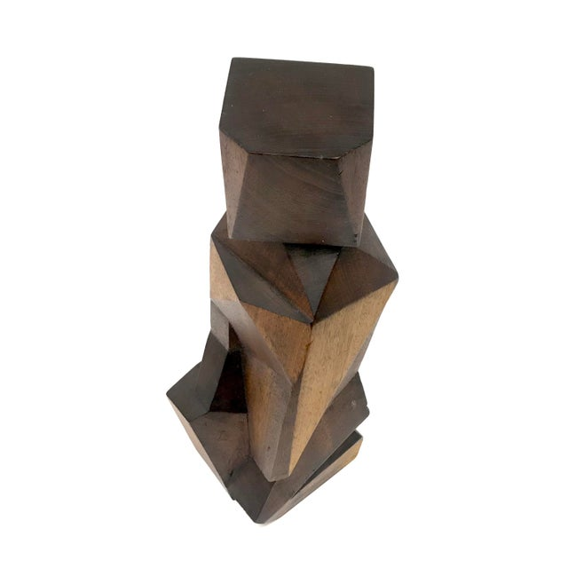 Signed Cubist Abstract Figure Sculpture - Image 4 of 6