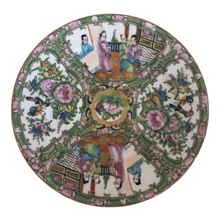 Antique Chinese Famille Rose Plate For Sale