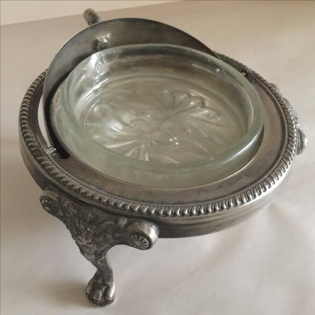 Mid-Century Silver Domed Tray - Image 5 of 8