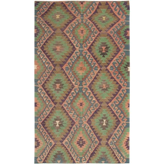 "Turkish Handmade Kilim Rug-6'1"" X 10'6"" For Sale"