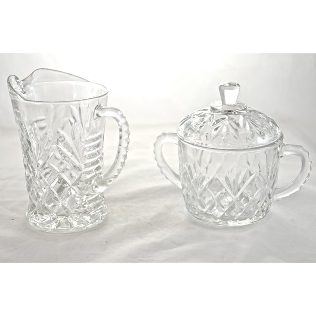 Farmhouse Pineapple Pattern Creamer & Sugar Bowl - a Pair For Sale - Image 3 of 3