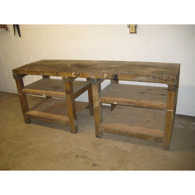 1900s Industrial Railroad Work Bench For Sale - Image 13 of 13