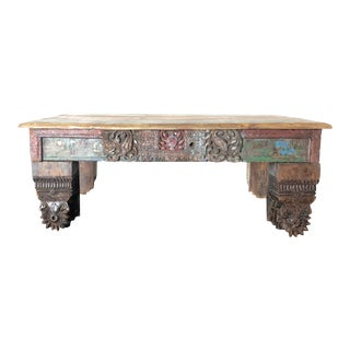 Boho Chic Style Reclaimed Wood Coffee Table