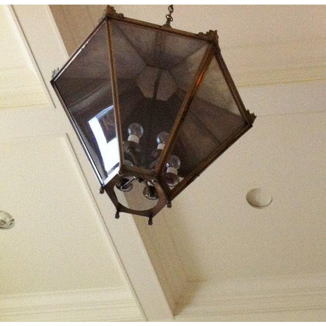 Ann Morris Groves Lantern in Oxidized Brushed Nickel Finish For Sale - Image 12 of 13