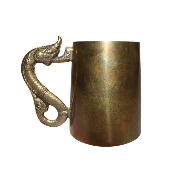Antique Brass Serpentine Mugs - Set of 8 - Image 1 of 4
