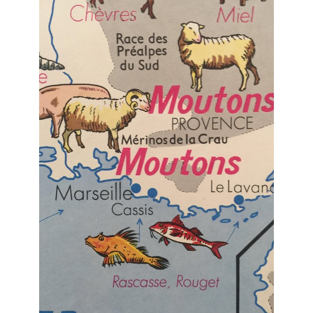 Vintage French Regional Food Poster For Sale - Image 4 of 10