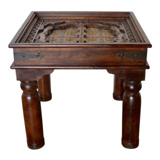 Moroccan Inspired Side Table For Sale