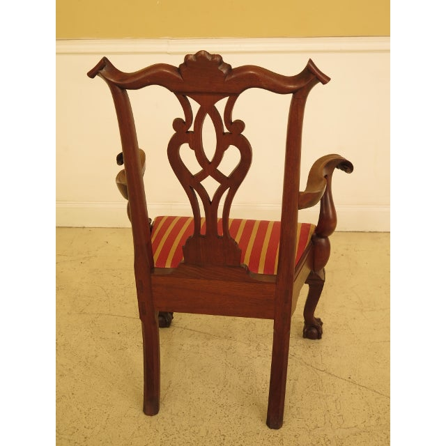 1950s 1950s Bench Made Hand Crafted Chippendale Walnut Armchair For Sale - Image 5 of 13