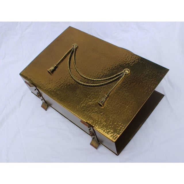 Mid 20th Century English Brass Magazine Holder by Peerage For Sale - Image 5 of 11