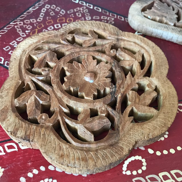 Hand-Carved Trivets - Set of 3 For Sale - Image 10 of 10
