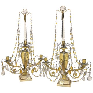 Fine Pair of Russian Candleabra For Sale