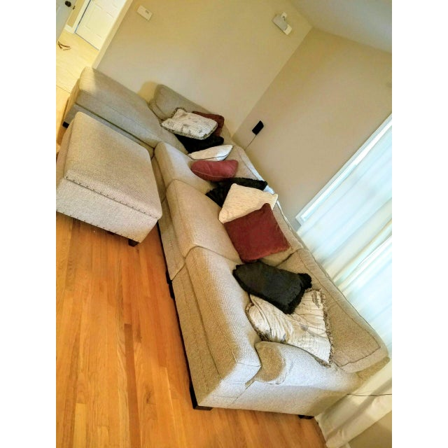 Hickory Furniture King Hickory Casbah Sectional With Ottoman For Sale - Image 4 of 4