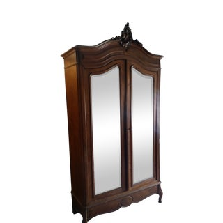 French Mirrored Armoire For Sale