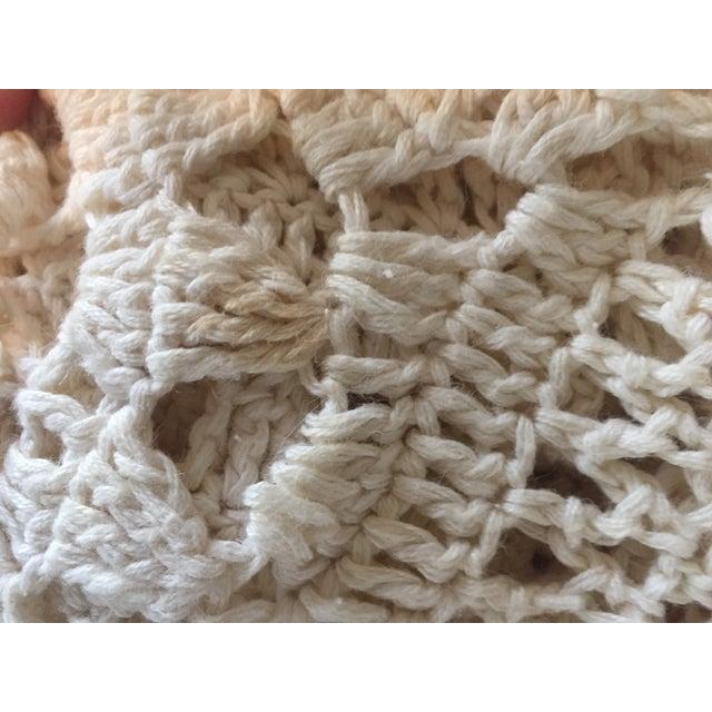 Linen & Cotton Crochet Throw Blanket - Image 7 of 9