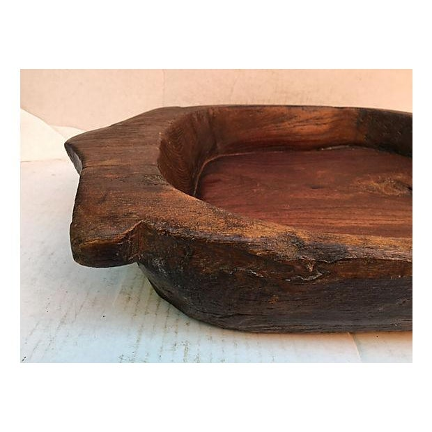 Rustic Hand Carved Dough Bowl - Image 4 of 6