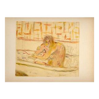 """1950s """"Feamme Assise Dans Sa Baignoire"""" Pierre Bonnard Lithograph 78 For Sale"""