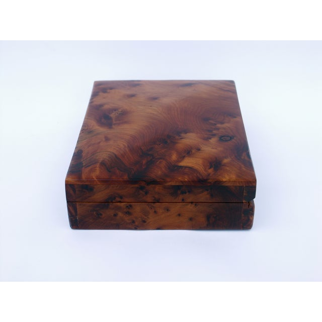 Decorative Juniper Burl Wood Box - Image 6 of 8