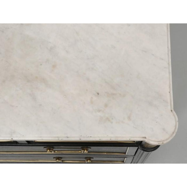 French Louis XVI Ebonized Finish Commode For Sale In Chicago - Image 6 of 11