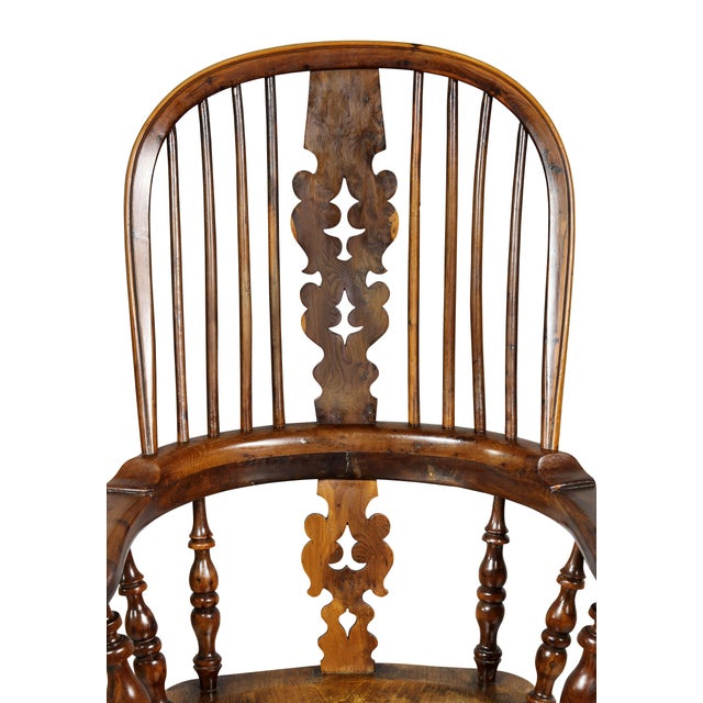 Set of Four Assembled Regency Yewwood Windsor Armchairs For Sale - Image 10 of 13
