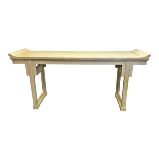 Michael Taylor for Baker Furniture Altar Style Console Table For Sale