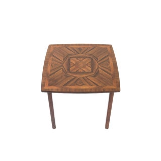 Vintage Danish Rosewood Inlay Side Table