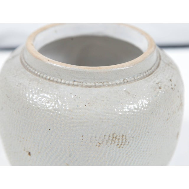 Ceramic 19th Century Blue Glaze Stoneware Covered Jar For Sale - Image 7 of 9
