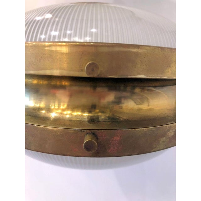 Pair of Mid Century Modern Sergio Mazza 'Gamma' Artemide Brass Sconces For Sale - Image 10 of 11