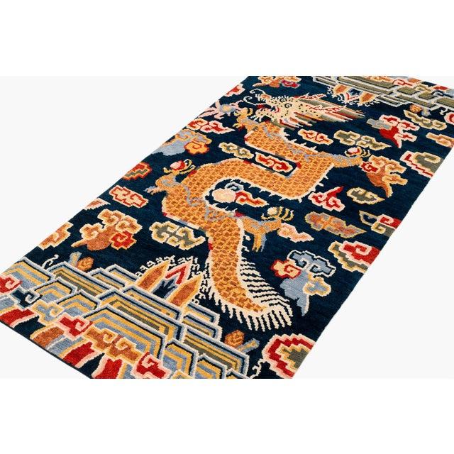 Textile Tibetan Dragon Area Rug-3′ × 6′ For Sale - Image 7 of 8