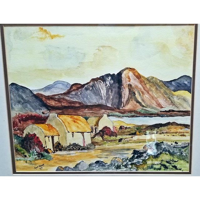 Irish Pair of Large Watercolors by Noel Hume - 2006 - in the Style of Paul Henry For Sale In Dallas - Image 6 of 9