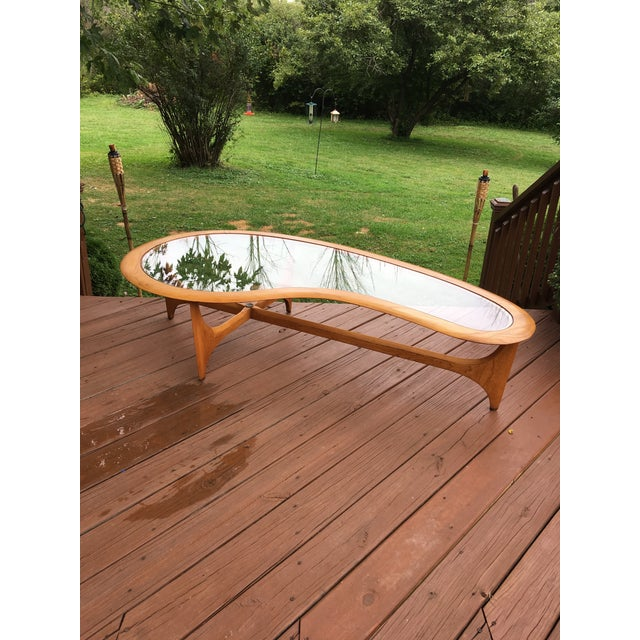 1960s Mid Century Vintage Lane Kidney Shaped Coffee Table For Sale - Image 5 of 13