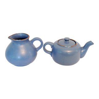 1990s Danish Modern Dansk Mesa Pottery Teapot and Pitcher - 2 Pieces
