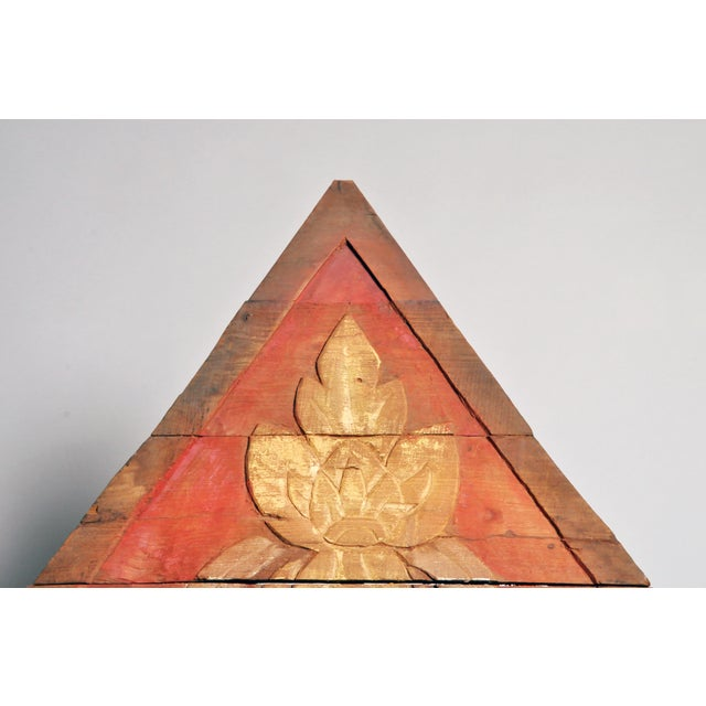 Teak Wood Architectural Gable Fragment For Sale - Image 4 of 9