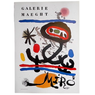 Vintage Poster Lithograph - Joan Miro For Sale