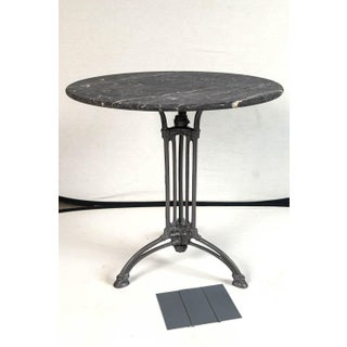 French Marble Top Cast Iron Bistro Table, Circa 1900 Preview