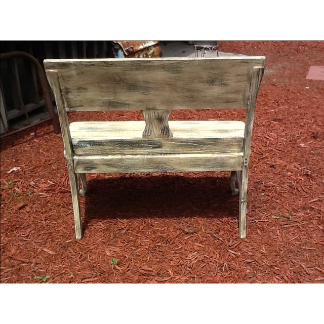 Rustic Distressed Bench - Image 5 of 6